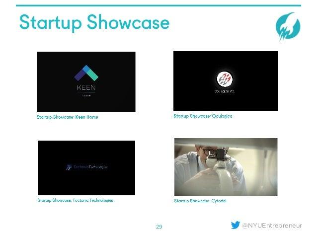 @NYUEntrepreneur Startup Showcase 29