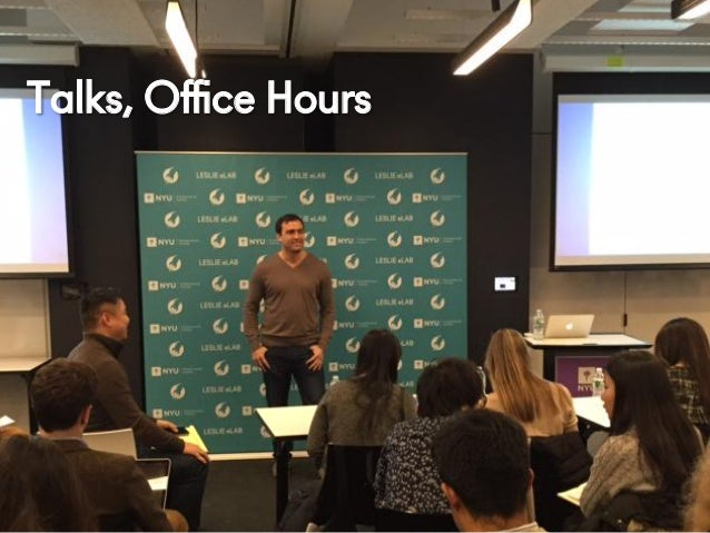 @NYUEntrepreneur Talks, Office Hours