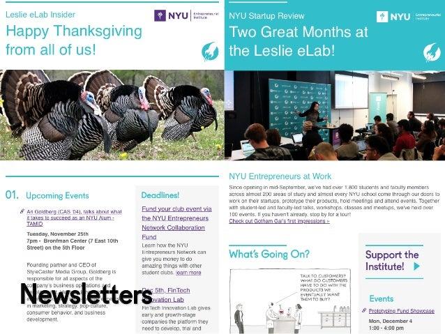 @NYUEntrepreneur Newsletters
