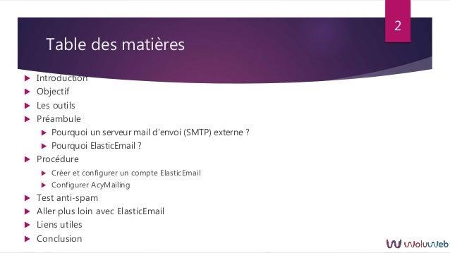 Joomla : AcyMailing et ElasticEmail (version 2019) Slide 2