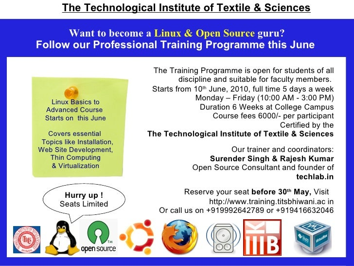 Want to become a Linux & Open Source guru? Follow our Professional Training Programme this June                           ...