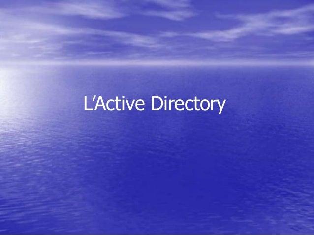 L'Active Directory