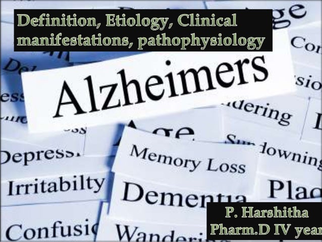 Alzheimer's disease (AD) is a slowly progressive disease of the brain that is characterized by impairment of memory and ev...