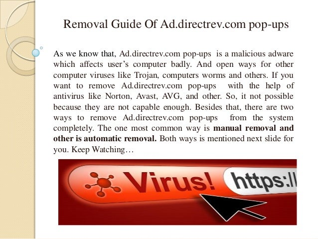 Remove Ad.directrev.com pop-ups Virus (Removal Guide)