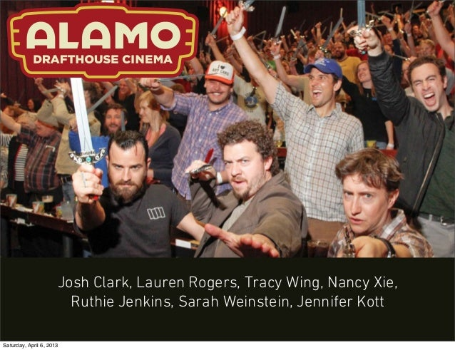 Josh Clark, Lauren Rogers, Tracy Wing, Nancy Xie,                        Ruthie Jenkins, Sarah Weinstein, Jennifer KottSat...