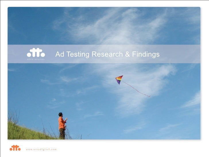 Ad Testing Research & Findings
