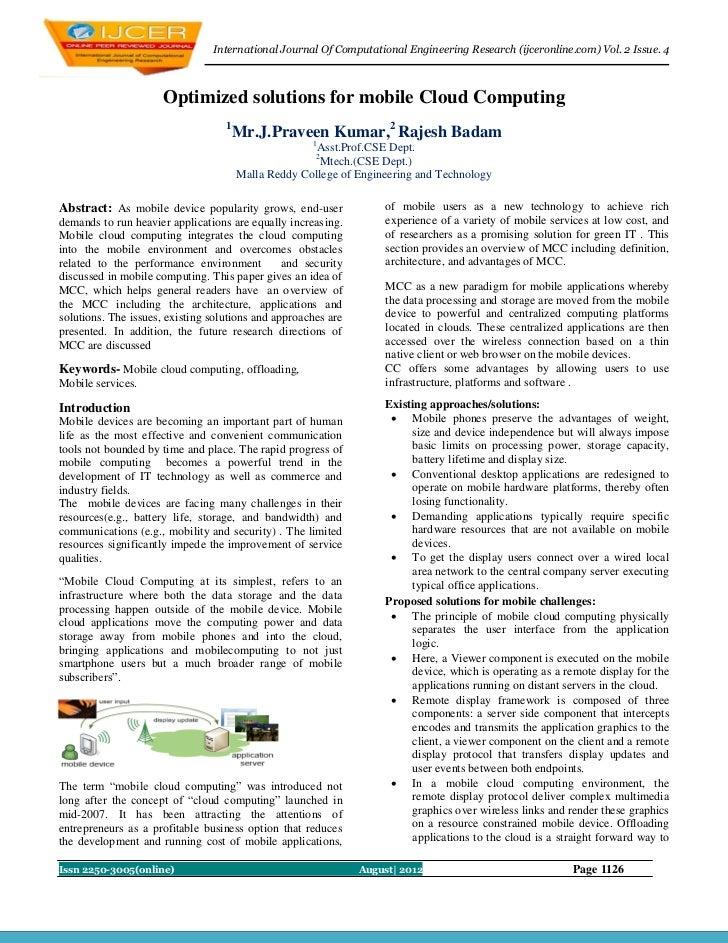 International Journal Of Computational Engineering Research (ijceronline.com) Vol. 2 Issue. 4                     Optimize...