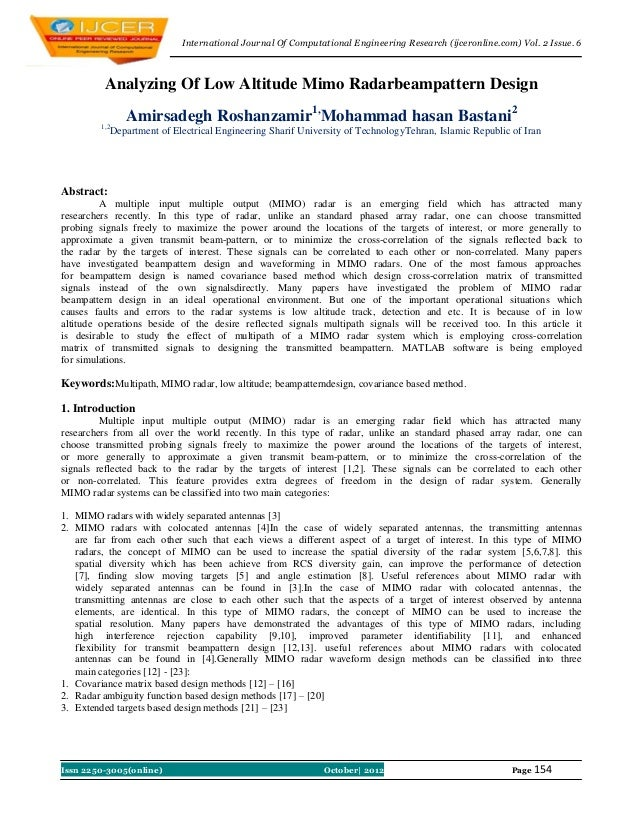 International Journal Of Computational Engineering Research (ijceronline.com) Vol. 2 Issue. 6          Analyzing Of Low Al...