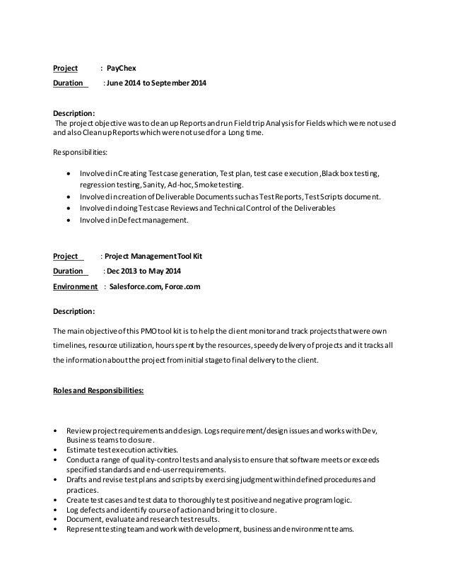 Resume Templates Jr Qa Tester  Qa Tester Resume