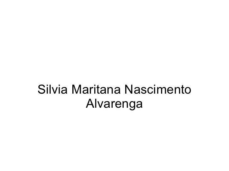 Silvia Maritana Nascimento Alvarenga