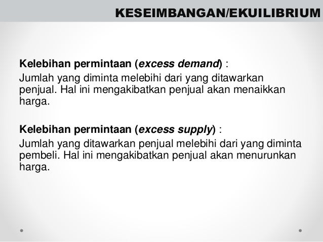 Soal Ekonomi Permintaan, Penawaran, Harga Keseimbangan dan Pasar