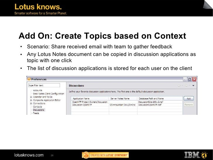 ad113 ibm lotus notes discussion template next