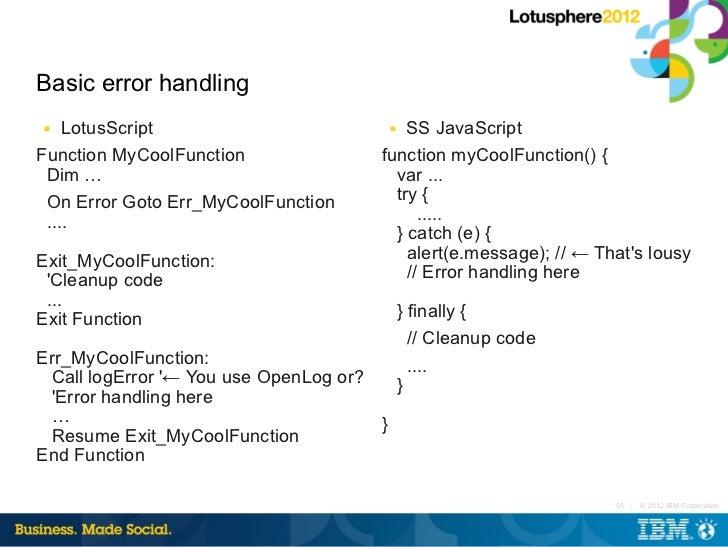 100 javascript on error resume next ie