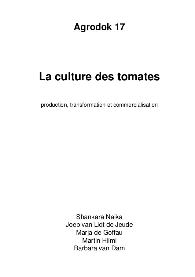 La culture des tomates Slide 2