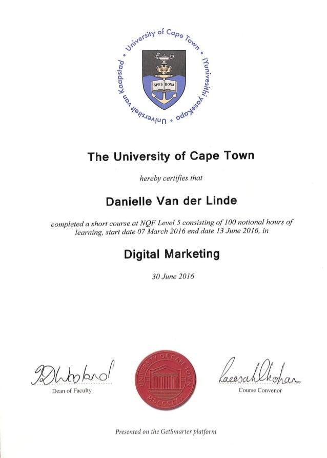 certificate uct marketing digital slideshare upcoming