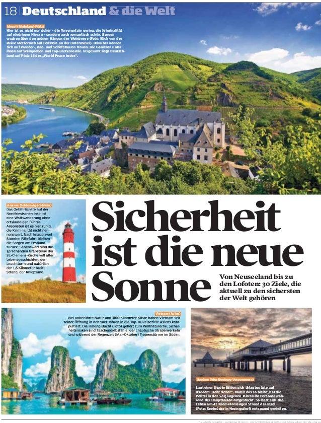 Sicherheit istdieneue Sonne 18 Amrum (Schleswig-Holstein) Vietnam (Asien) Von Neuseeland bis zu den Lofoten: 30 Ziele, die...