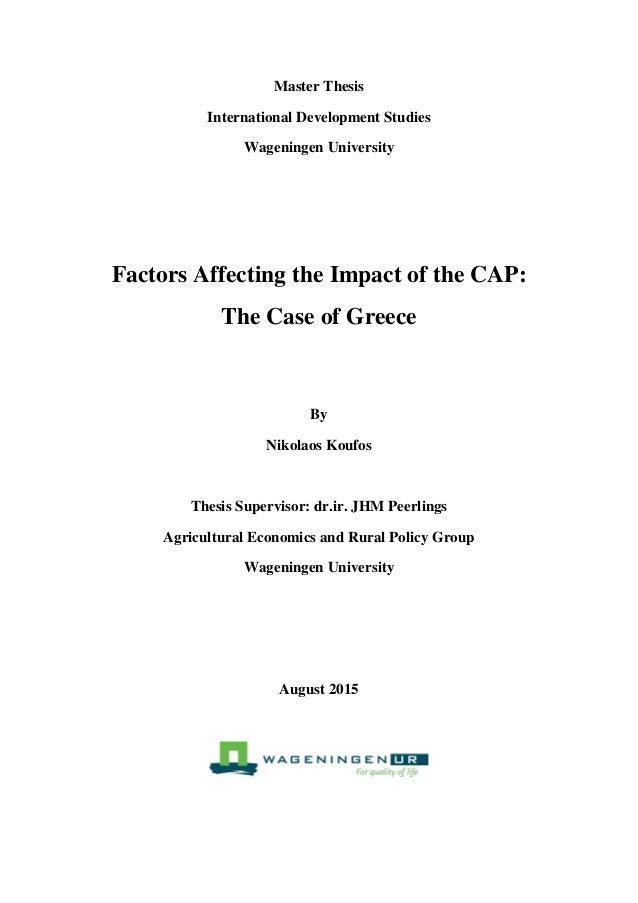 master thesis development economics