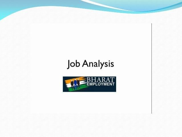 "7-T  Job Analysis  -""L BHARAT  'J. .. 'EMPLOYMENT"