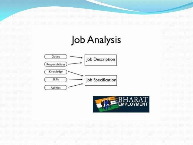 "job Analysis  .  . "" job Description """"""""""  Knowledge   '—' job Specification  /   -~r BHARAT  I '_i. i 'EMPLOYMENT"