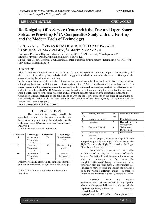 Vikas Kumar Singh Int. Journal of Engineering Research and Application www.ijera.com Vol. 3, Issue 5, Sep-Oct 2013, pp.166...