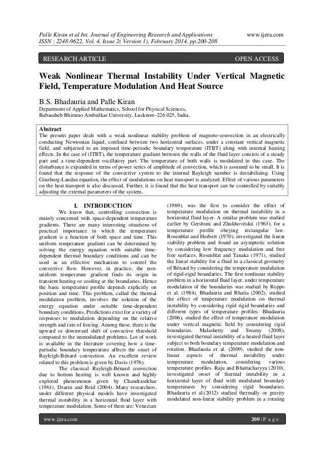 Palle Kiran et al Int. Journal of Engineering Research and Applications ISSN : 2248-9622, Vol. 4, Issue 2( Version 1), Feb...