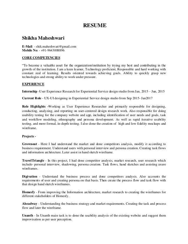 shikha ux resume