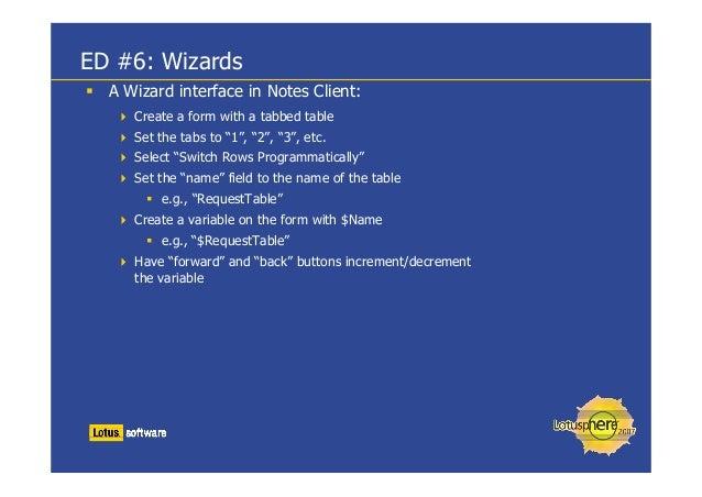Lotusphere 2007 AD505 DevBlast 30 LotusScript Tips