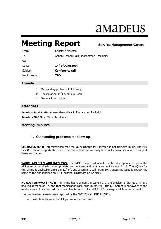 agenda for a meeting example