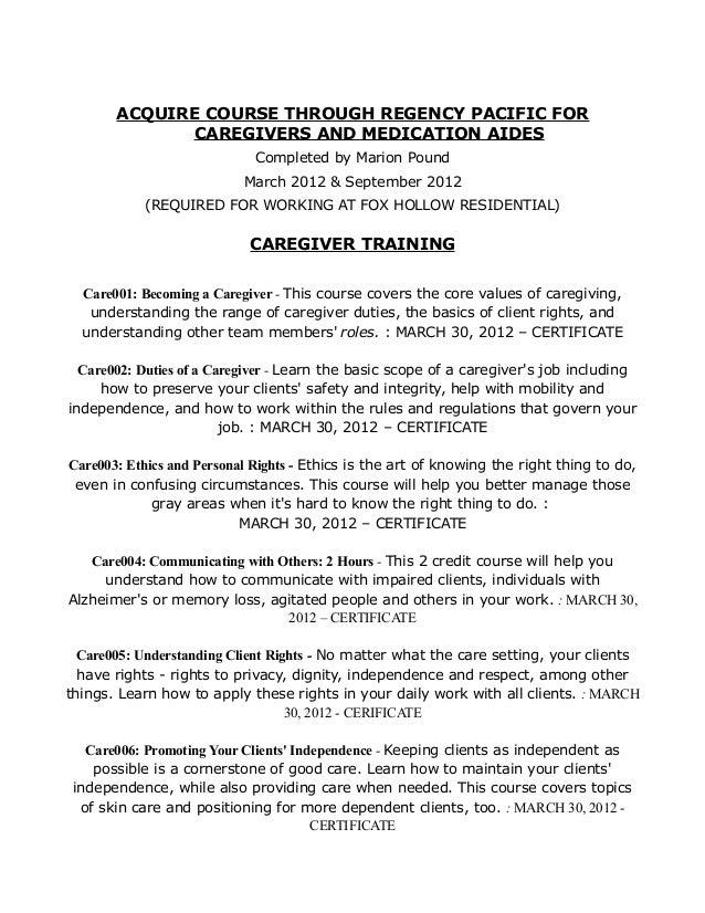 caregiver duties resume caregiver sample resume cover letter