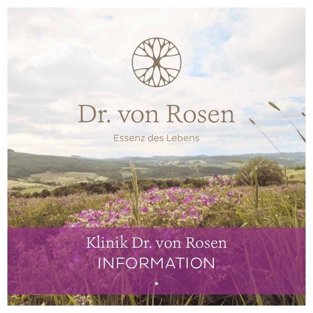 Klinik Dr. von Rosen INFORMATION •