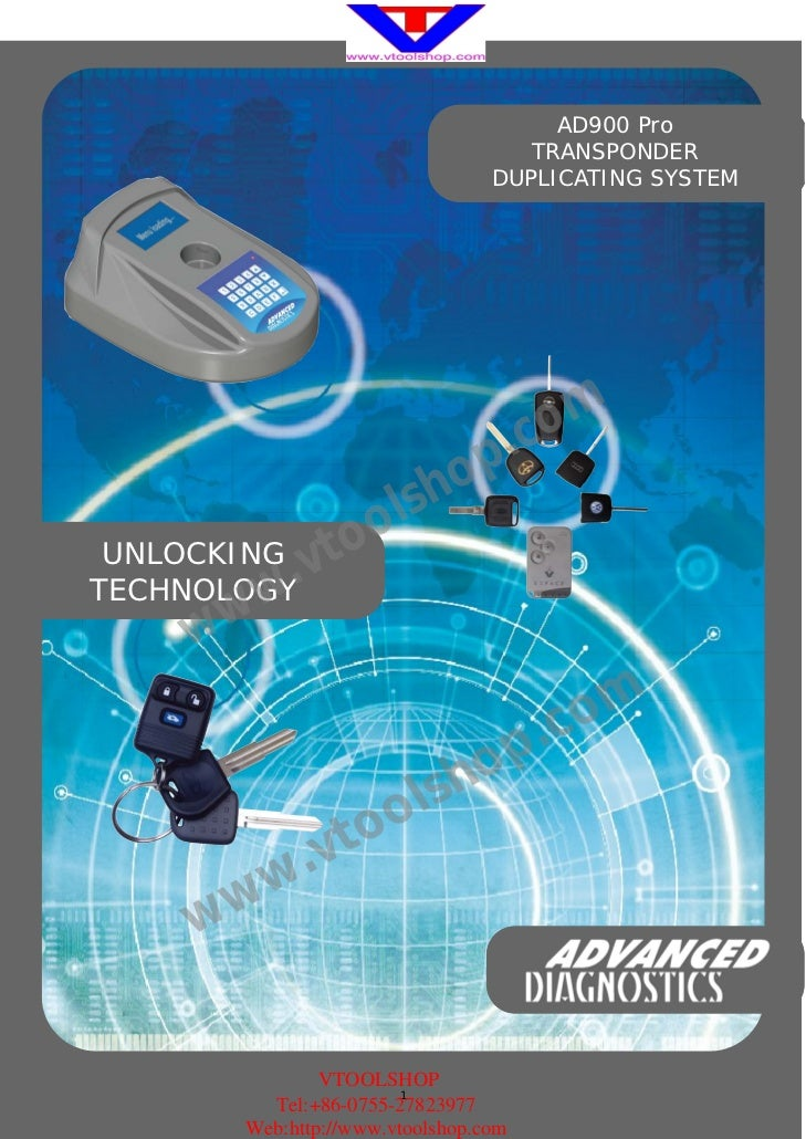 AD900 Pro                                     TRANSPONDER                                  DUPLICATING SYSTEM             ...