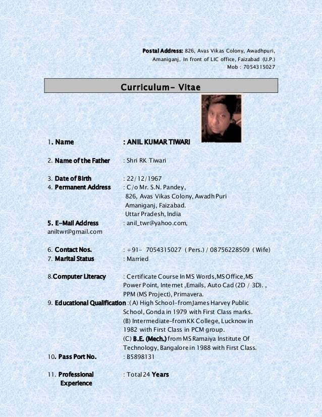 first class resume