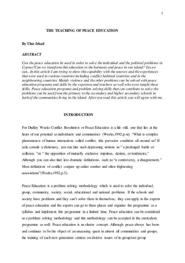 theteachingofpeaceeducation1638jpgcb 1437416111 – Conflict Resolution Worksheets for Adults
