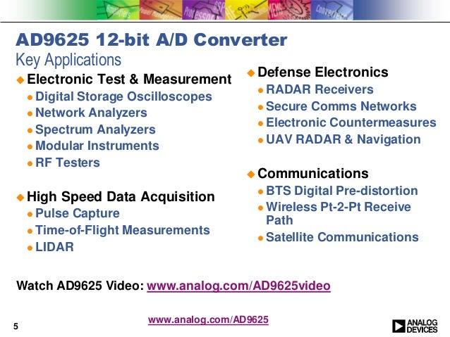 Network Analyzer Testing Radar Gun : Ad bit gsps analog to digital converter