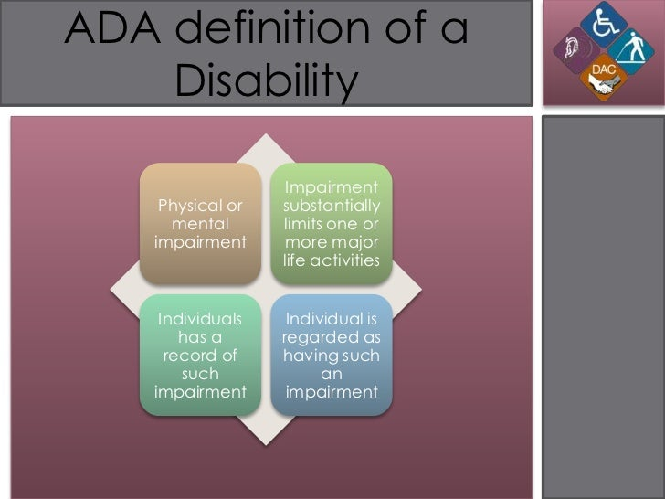 obesity and the american disabilities act Disability discrimination disability discrimination occurs when an employer or other entity covered by the americans with disabilities act, as amended, or the.