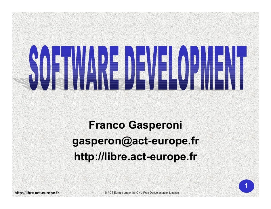 Franco Gasperoni                              gasperon@act-europe.fr                              http://libre.act-europe....
