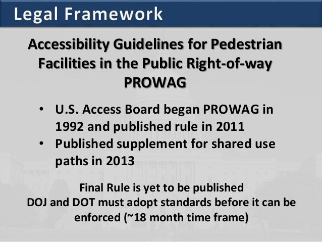 ADA PROWAG Update For Local Agencies