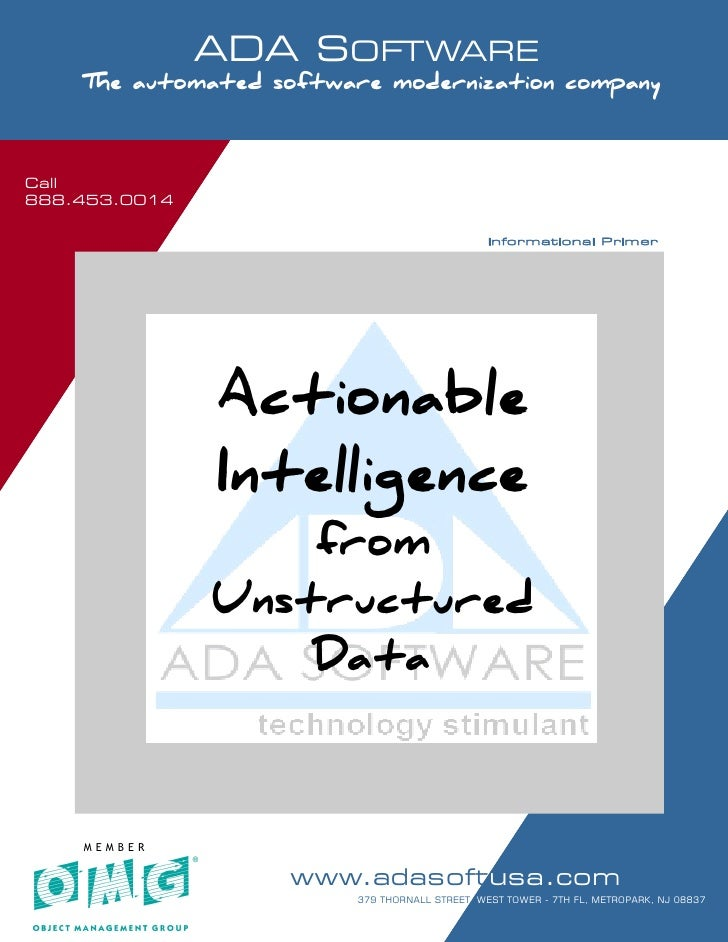 Call 888.453.0014                       ADA SOFTWARE      SOFTWARE MODERNIZATION - POWERED BY MODELING       The automated...