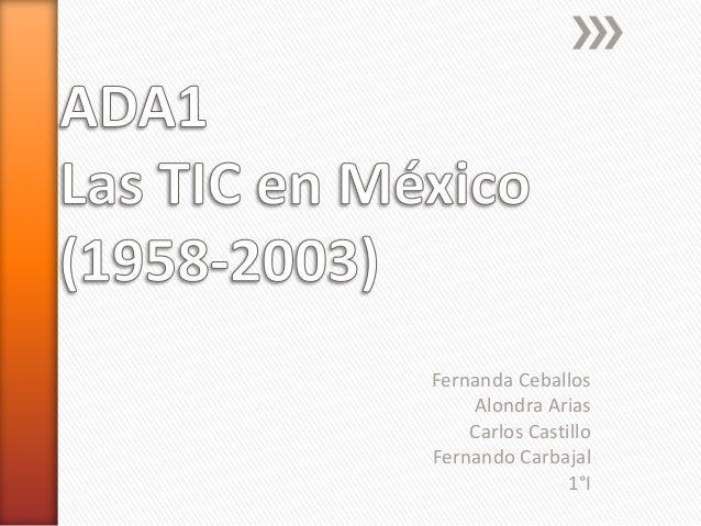 Fernanda Ceballos  Alondra Arias  Carlos Castillo  Fernando Carbajal  1°I