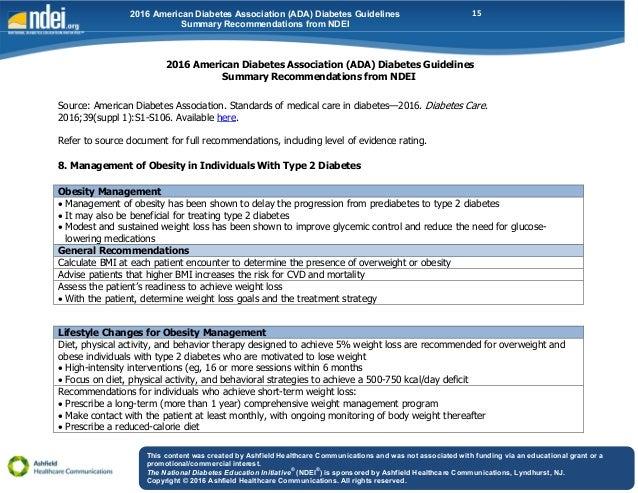 american diabetes association guidelines 2017