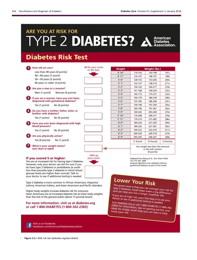 ada diabetes guidelines 2018 summary