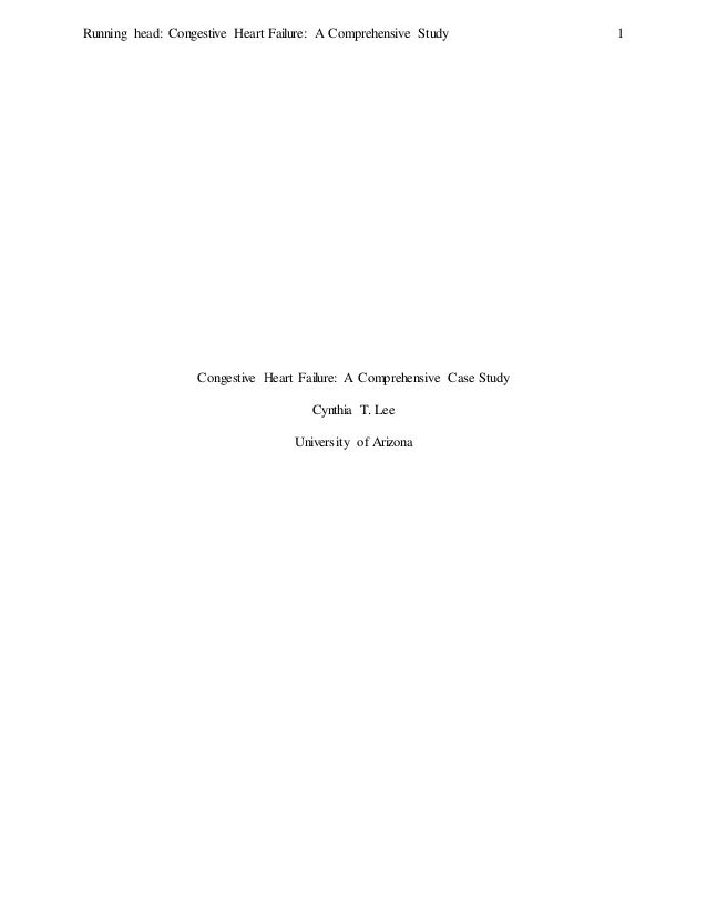 Congestive Heart Failure Case Study Essay - 2098 Words