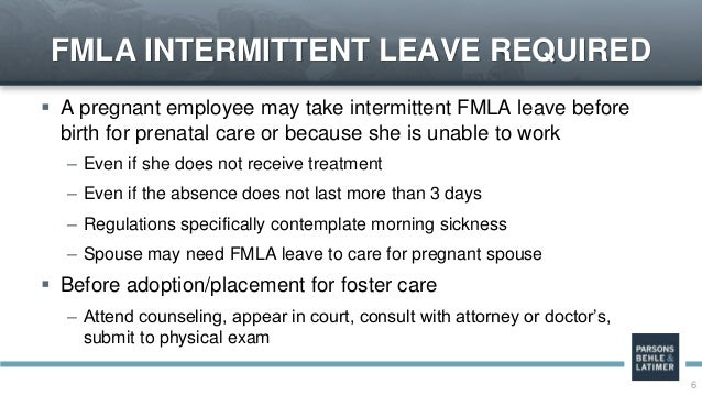 On Again Off Again Intermittent Leave Under The Ada And Fmla