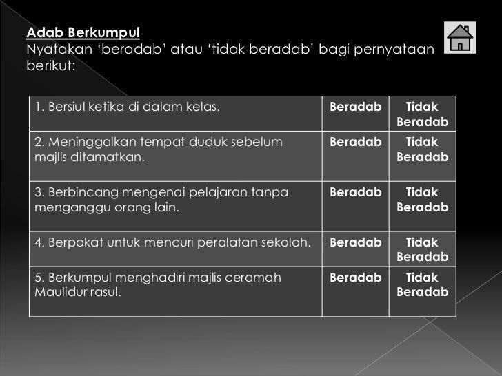 Adab berkumpul Slide 3