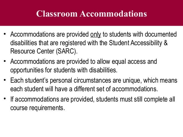 accommodating students with special needs in the classroom