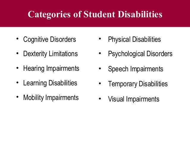 Accommodating a student with disability
