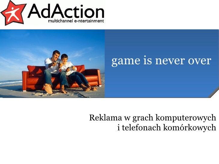 Reklama w grach komputerowych i telefonach komórkowych