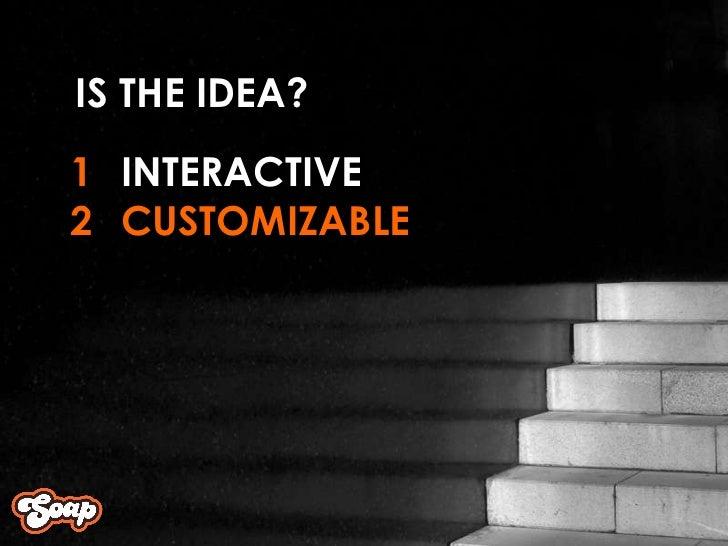 INTERACTIVE CUSTOMIZABLE 1 2 IS THE IDEA?