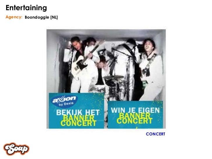 Boondoggle [NL] Agency: Entertaining CONCERT