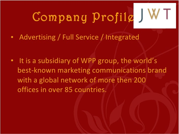 Ad agency and its functions for Ad agency profile